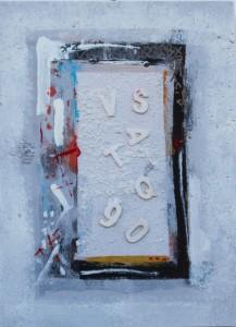 Ultima lettera anno 2014 Tec. mista 23,3 x 32 cm